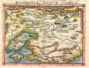Ancient Russian Map C 16th